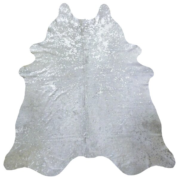 Brazilian Cowhide Silver Area Rug by Chesterfield Leather