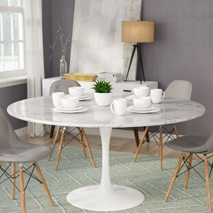 Elegant Julien Artificial Marble Round Dining Table