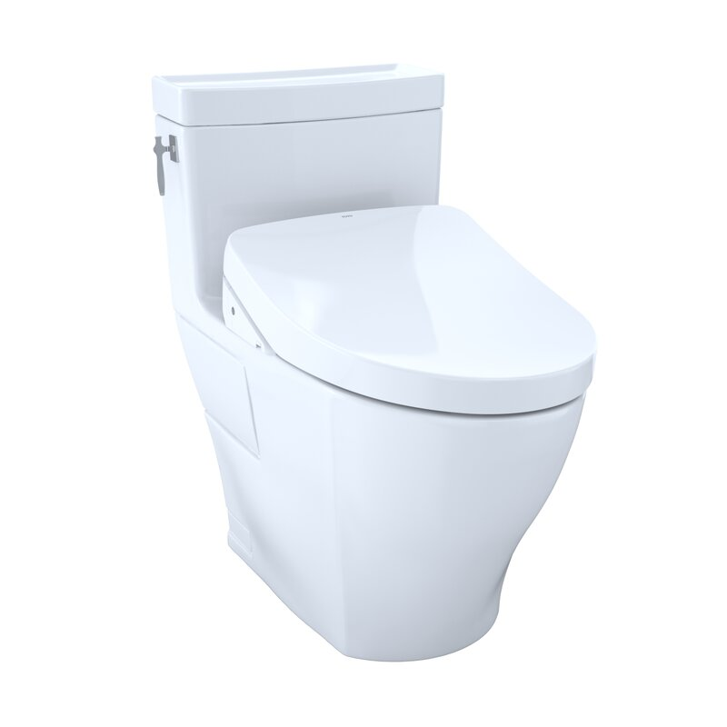 Toto 1 28 Gpf Water Efficient Elongated Two Piece Toilet High Efficiency Flush Seat Included Wayfair
