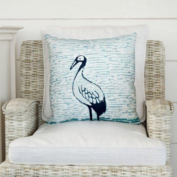 Boubacar Bird Watch Animal Print Throw Pillow by Highland Dunes