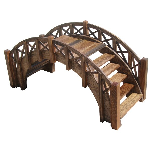 Fairy Tale Wood Garden Stair Bridge by Sams Gazebos