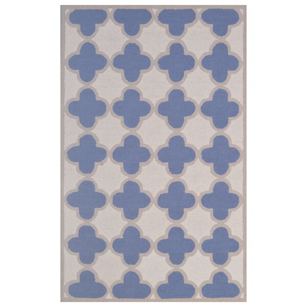 Wool Hand-Tufted Ivory/Blue Area Rug by Eastern Weavers
