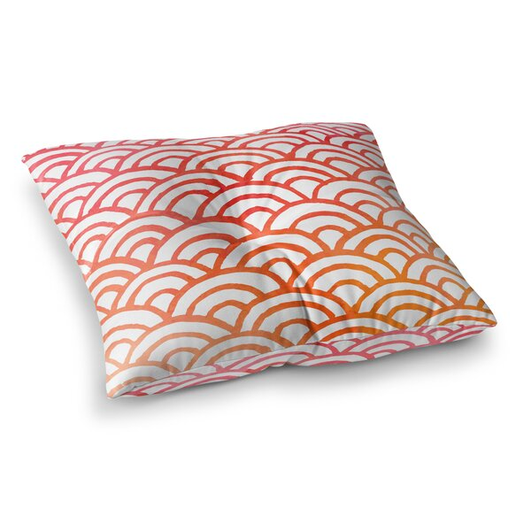Corvally Scallop Outdoor Floor Pillow by Ivy Bronx