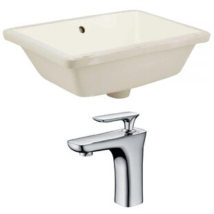 Read Reviews Ceramic Rectangular Undermount Bathroom Sink with Faucet and Overflow By Royal Purple Bath Kitchen