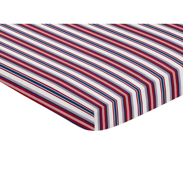 Baseball Patch Mini Fitted Crib Sheet by Sweet Jojo Designs