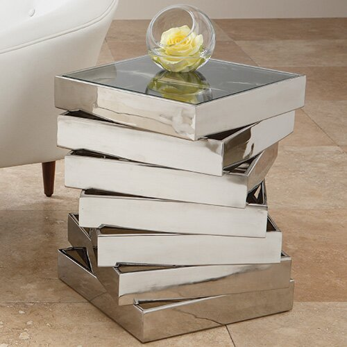 Vortex End Table by Global Views