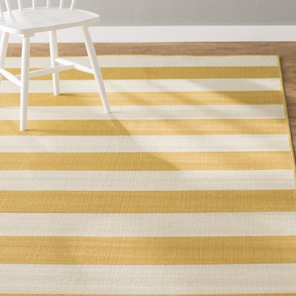 Alford Hand-Woven Yellow Indoor/Outdoor Area Rug by Andover Mills