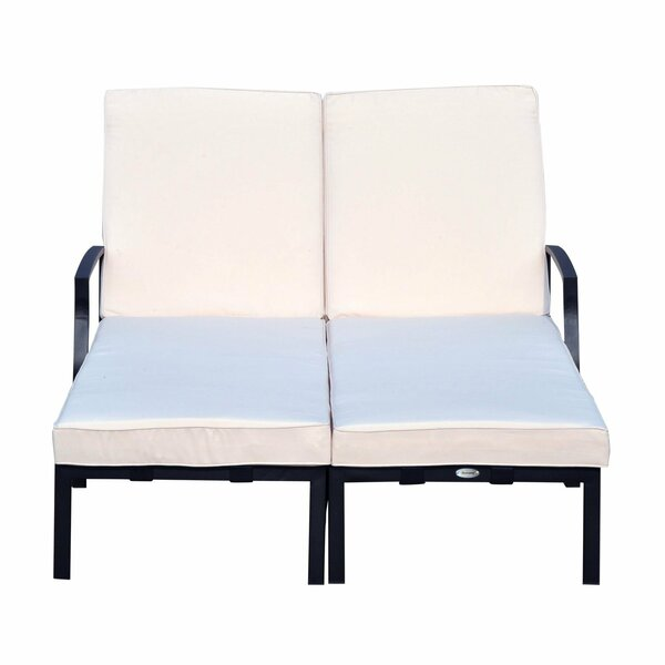 Farris Double Reclining Chaise Lounge with Cushion by Ebern Designs