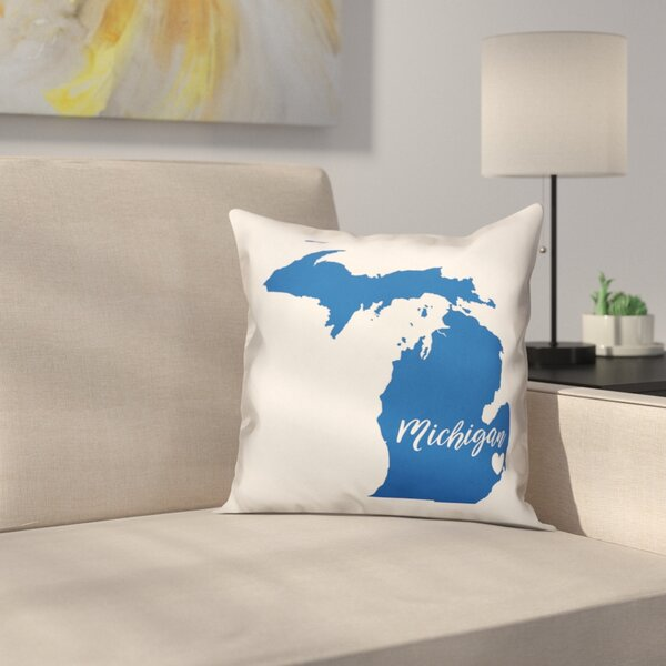 Michigan Pride Throw Pillow by East Urban Home
