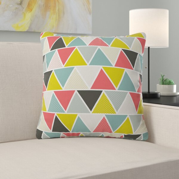 Triangulum Throw Pillow by East Urban Home