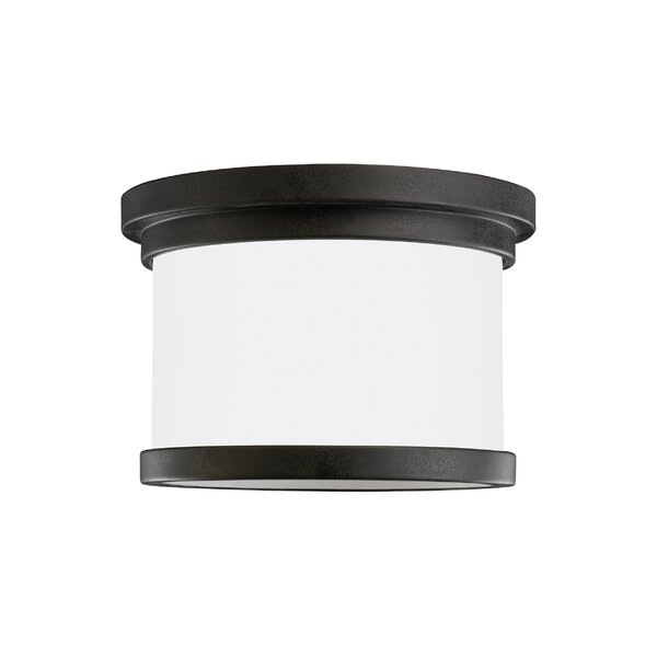 Dashiell 1-Light Outdoor Flush Mount by Three Posts