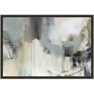 Trends 'Argentum' Framed Painting Print by Ashton Wall Décor LLC
