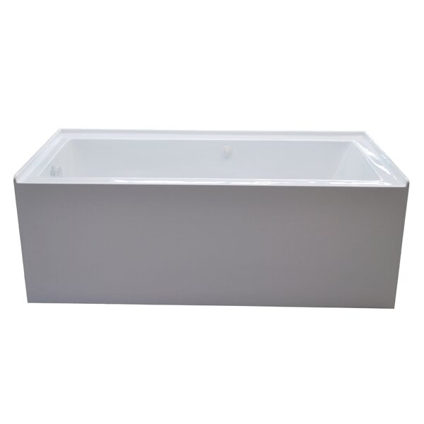 Castle 60 x 32 Front Skirted Air Massage Bathtub with Drain by Spa Escapes