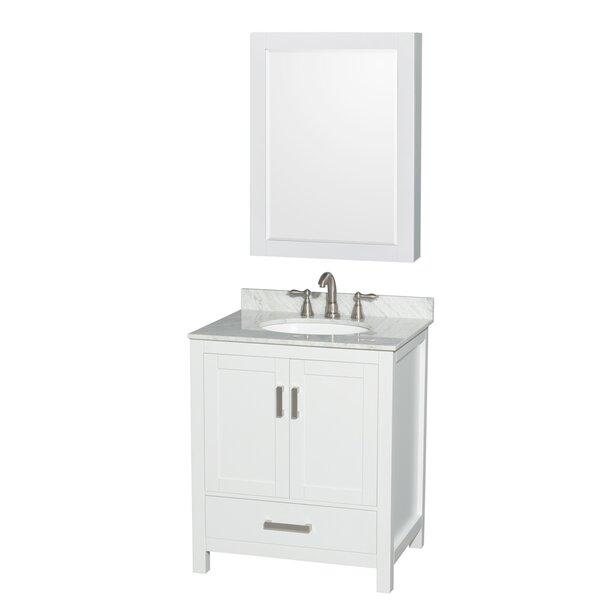 Sheffield 30 Single Bathroom Vanity Set with Mirror