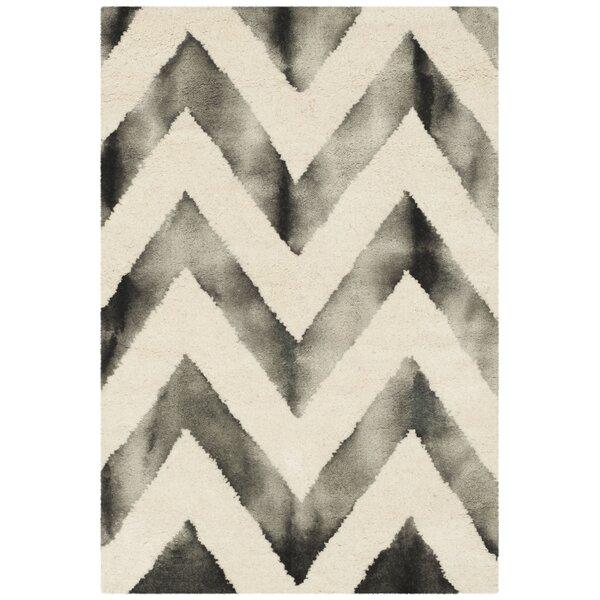 Vandermark Ivory/Charcoal Area Rug by Brayden Studio