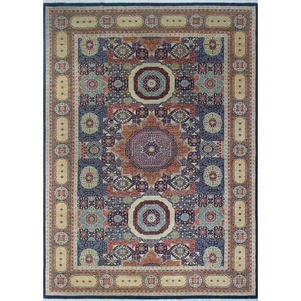 One-of-a-Kind Longoria Obiada Hand-Knotted Wool Blue Area Rug by Canora Grey