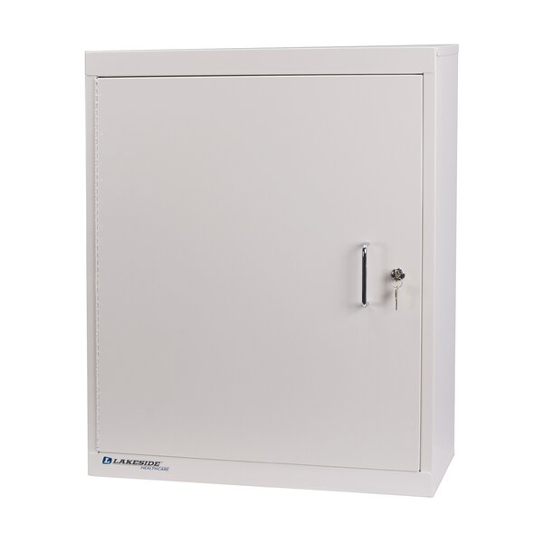 1-Door, Double Lock, 3-Shelf, 24 W x 30 H Medication Cabinet