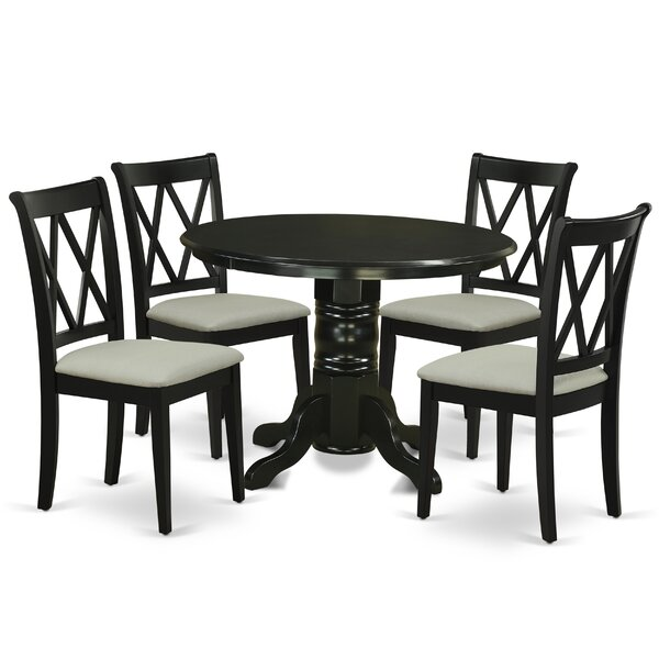 Antuane 5 Piece Solid Wood Breakfast Nook Dining Set by Winston Porter Winston Porter