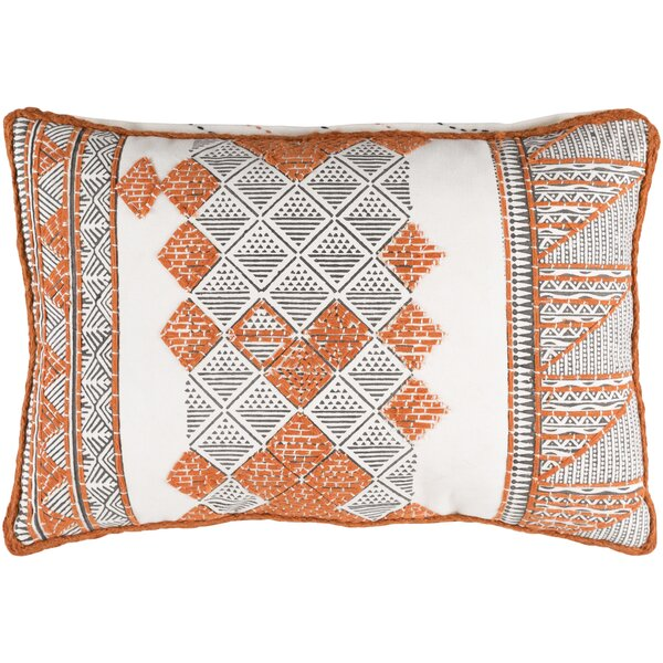 Amethyst Cotton Lumbar Pillow by Bloomsbury Market