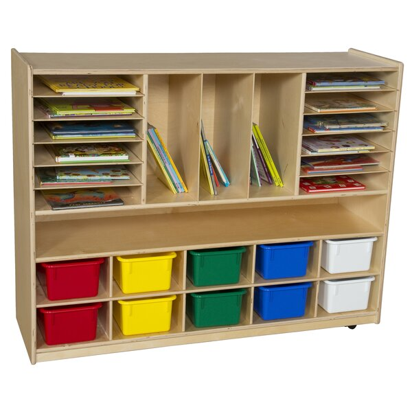 Multi-Storage 10 Compartment Cubby with Trays by Wood Designs