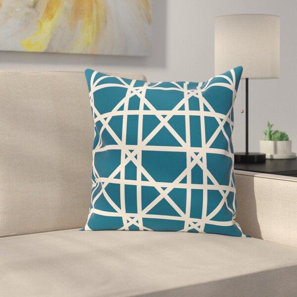 Marissa Trellis Geometric Print Outdoor Throw Pillow by Latitude Run