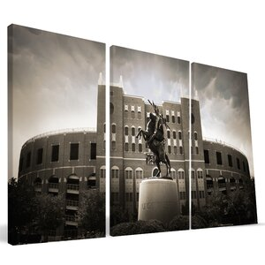 'NCAA' 3 Piece Photographic Print on Wrapped Canvas by Paulson Designs