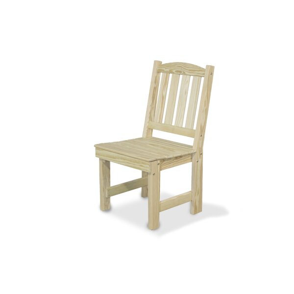 Wood Garden Patio Dining Chair by YardCraft