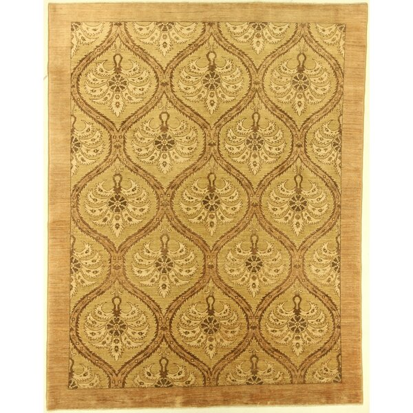 One-of-a-Kind Cora Hand-Knotted Wool Brown Area Rug by Isabelline
