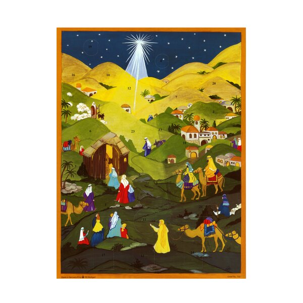 Large Star Advent Calendar with Bible Verses by Alexander Taron