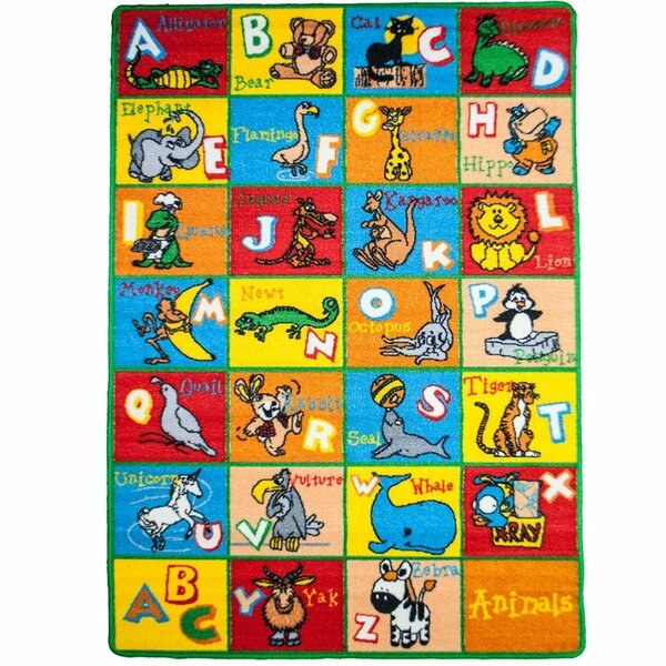 Kids Animal Blue/Red Area Rug by Sintechno