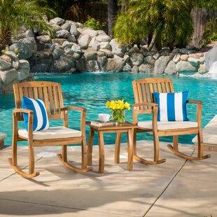 Coyne Acacia 3 Piece Outdoor Set Beachcrest Home