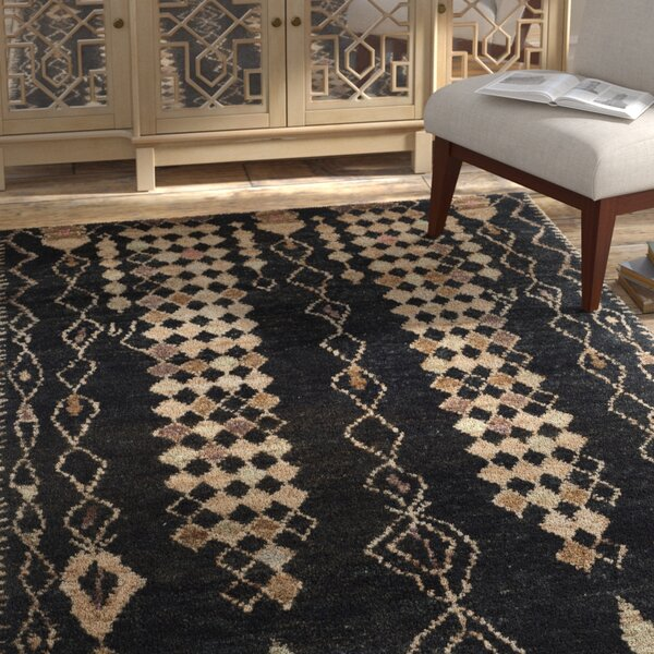 Pinehurst Black/Beige Area Rug by Bungalow Rose