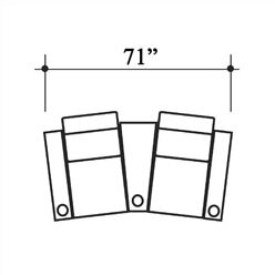 Diplomat Leather Home Theater Row Seating (Row Of 2) By Bass
