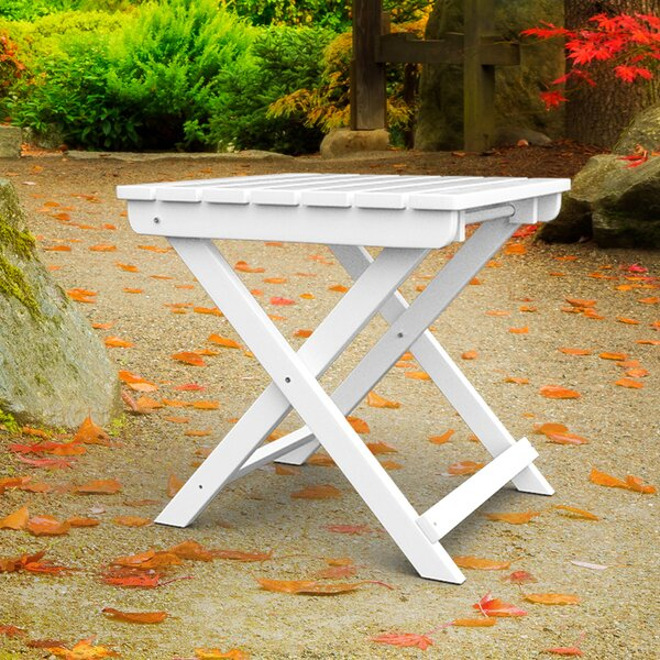 Lowrey Folding Plastic Side Table by Highland Dunes