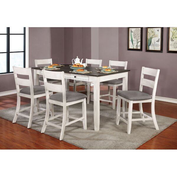 Allmon 7 Piece Counter Height Dining Set by August Grove August Grove