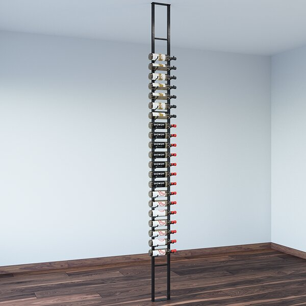 Floating 21 Bottle Wall Mounted Wine Bottle Rack by VintageView