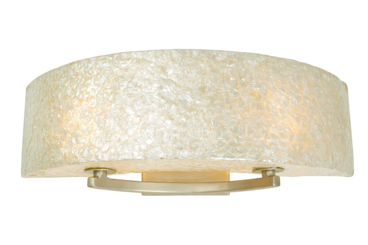varaluz radius crushed capiz 2-light bath bar & reviews | wayfair