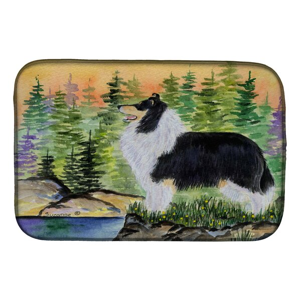 Collie Dish Drying Mat by Caroline's Treasures
