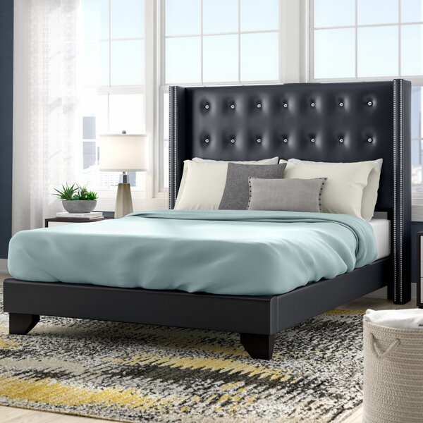 Arno Upholstered Standard Bed by Wade Logan