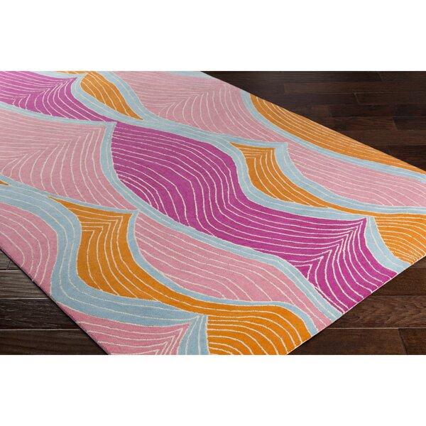 Cleo Hand-Tufted Purple/Pink Area Rug by Viv + Rae