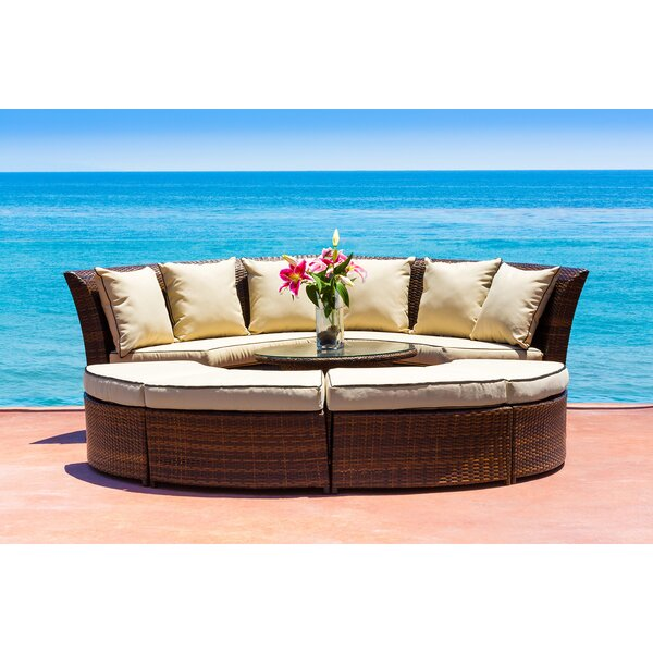 Alejandra 7 Piece Sunbrella Sectional Seating Group with Cushions by Bayou Breeze