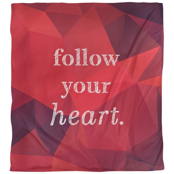 Follow Your Heart Quote Single Duvet Cover