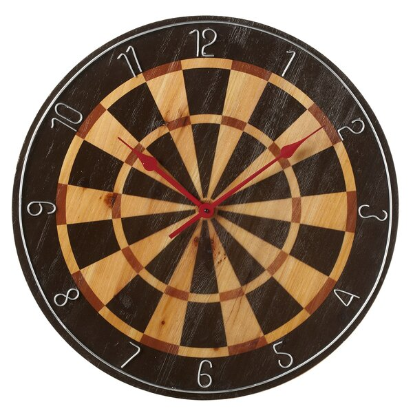 Oversized Wachtel Dart Board 24 Wall Clock by Millwood Pines| @ $82.99