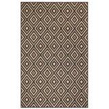 Kinslow Nested Diamond Black/Ivory Indoor/Outdoor Area Rug byEbern Designs