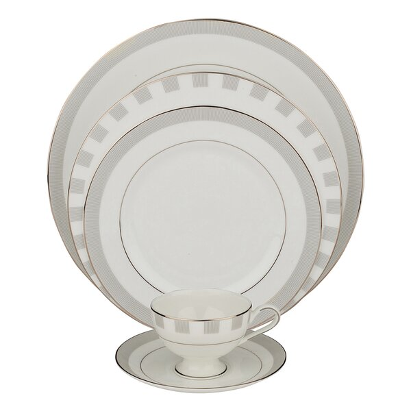 Spectrum 5 Piece Bone China Place Setting, Service for 1 (Set of 4) by Shinepukur Ceramics USA, Inc.