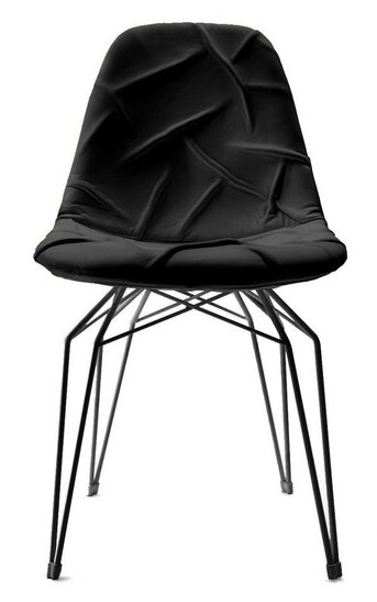 Pop Genuine Leather Upholstered Dining Chair by Modern Chairs USA