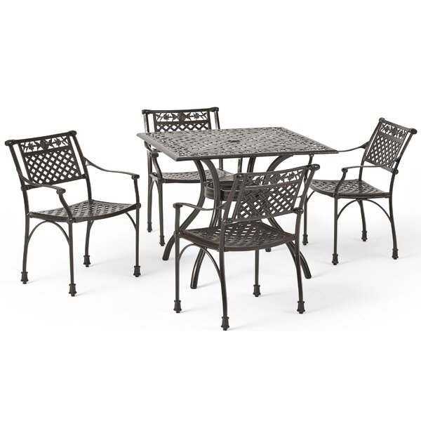 Ridgecrest Traditional 5 Piece Dining Set by Red Barrel Studio
