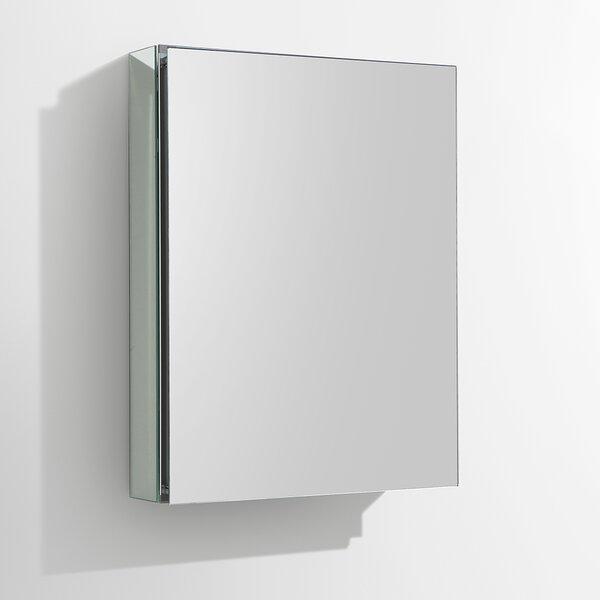 Recessed or Surface Mount 1 Door Frameless Medicine Cabinet