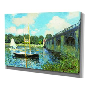 'Japanese Foot Bridge' by Claude Monet Framed Painting Print by Wexford Home