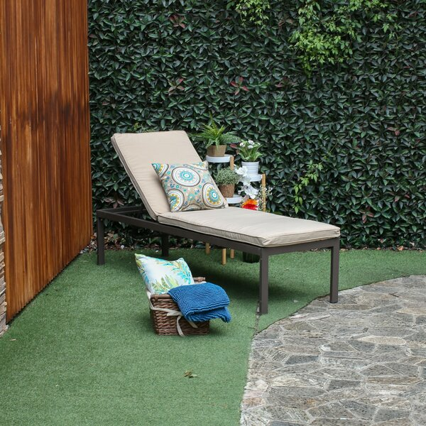 Kirstine Chaise Lounge with Cushion by Latitude Run Latitude Run
